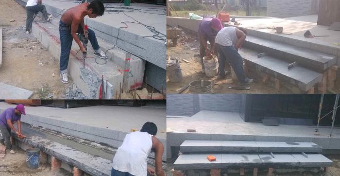 石材階梯施工