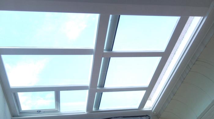 玻璃電動採光罩