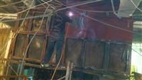 貨櫃拆除鋼板切割作業