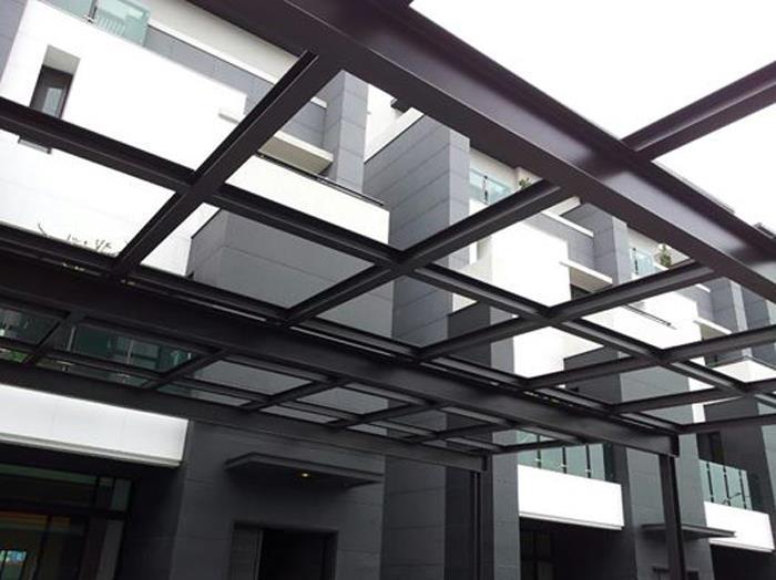 H型鋼玻璃採光罩骨架