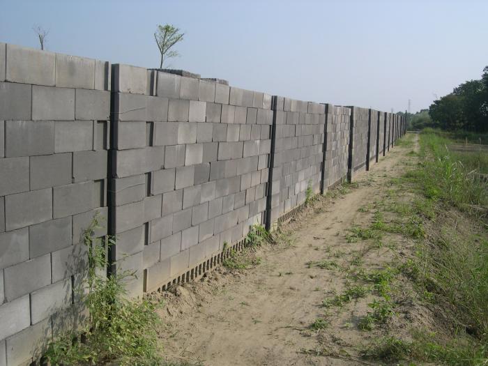 空心磚實績 - 圍牆