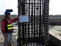 鋼筋籠搭接吊放