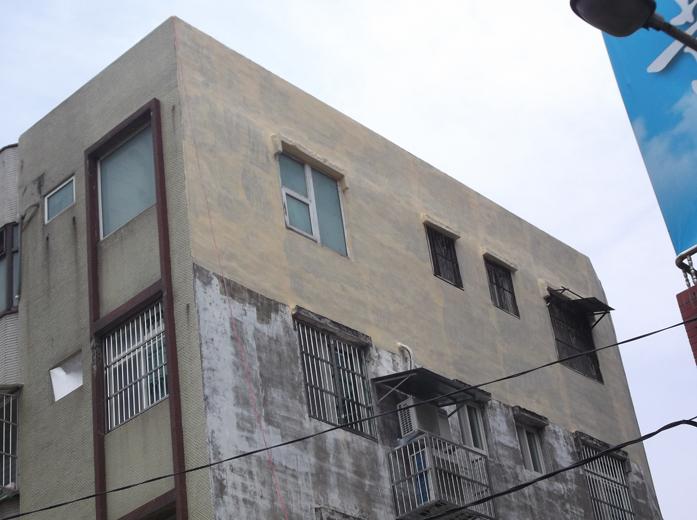 外牆防水施作-中塗