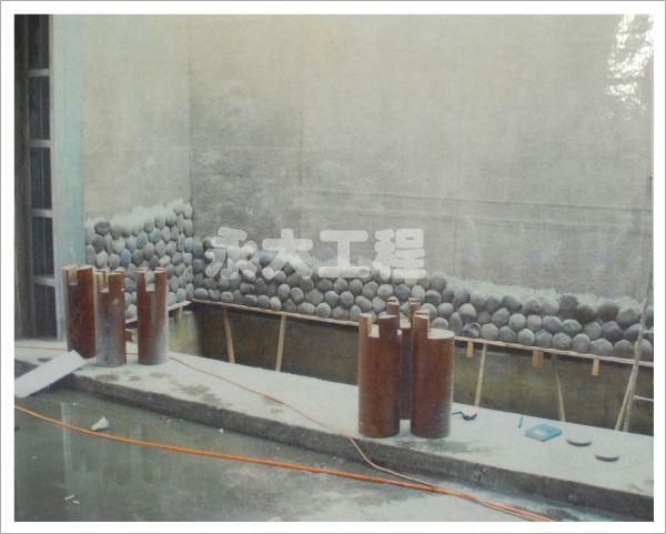 石材水幕造景FRP防水披覆