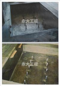 RC素地防水施作前FRP積層防水工法完成