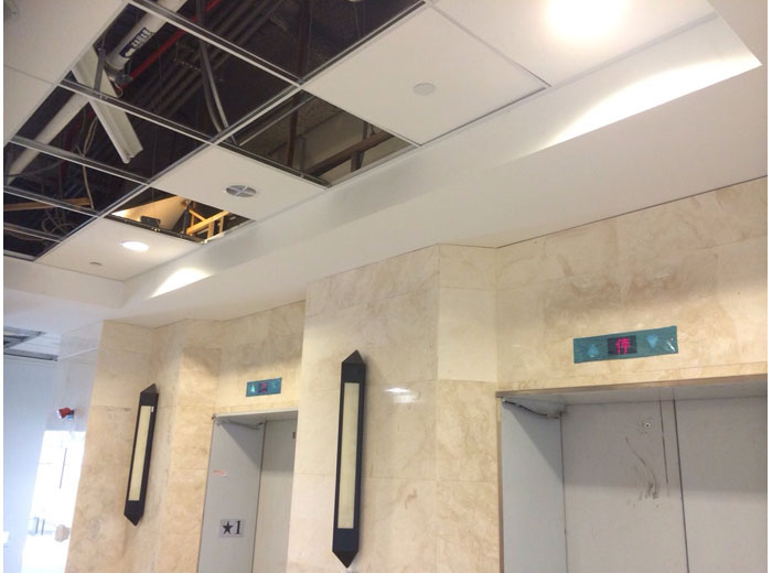 暗架+明架輕鋼架天花板