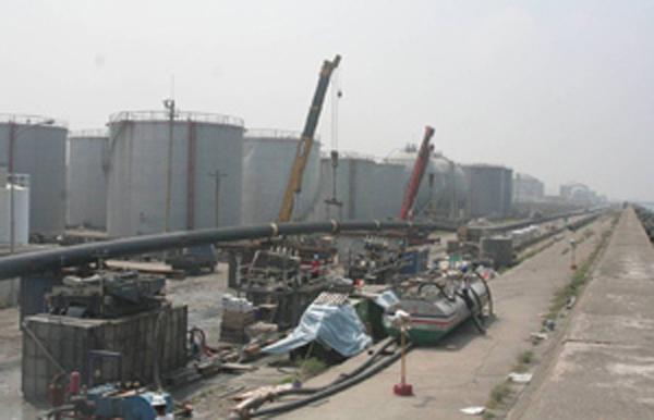 台中港陸上管線設施及航道水平導向鑽掘工程