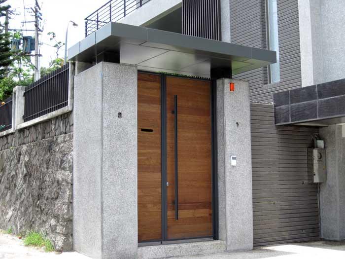 鋁包板雨遮/造型大門