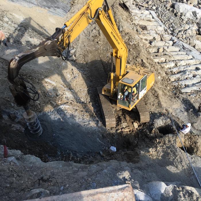 三峽區颱風災後復建工程-基樁鑽掘