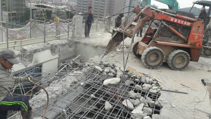 廠房樓板鋼筋混凝土機械拆除