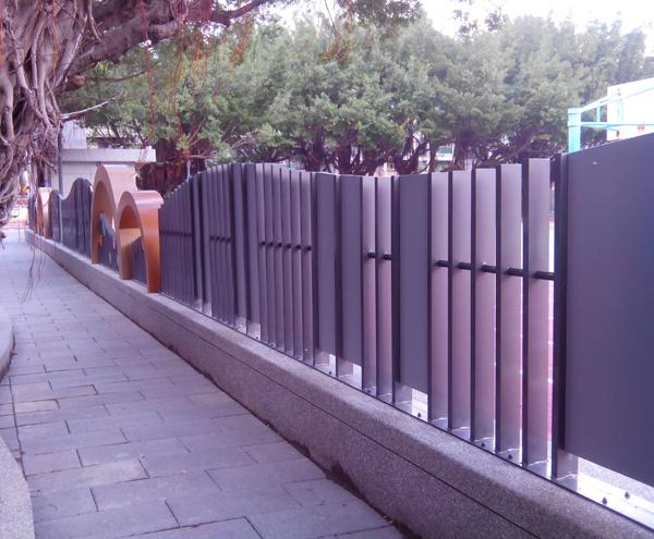 造型格柵欄杆、造型格柵烤漆欄杆