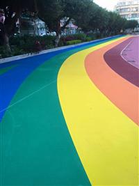 彩色跑道地坪工程