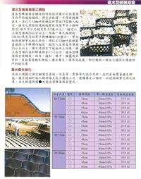 濾水型蜂巢格式鋪設
