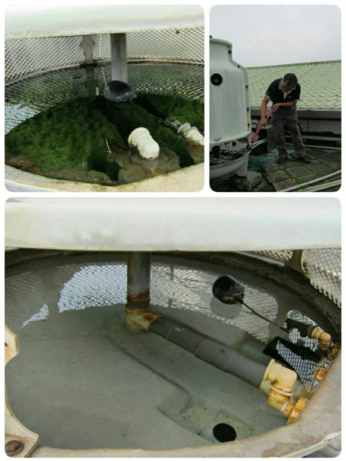 水冷式箱型冷氣水塔清洗
