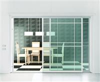 客餐廳鋁框玻璃推拉門