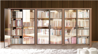 系統書櫃鋁框玻璃門