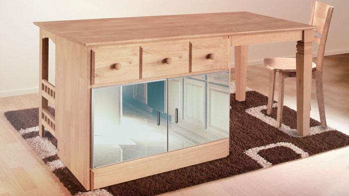 書桌櫥櫃鋁框玻璃門
