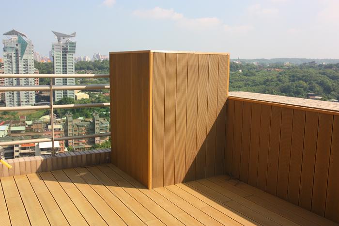 塑木地板-淡水養生宅