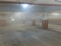 地下室停車場鋪設瀝青混凝土-1