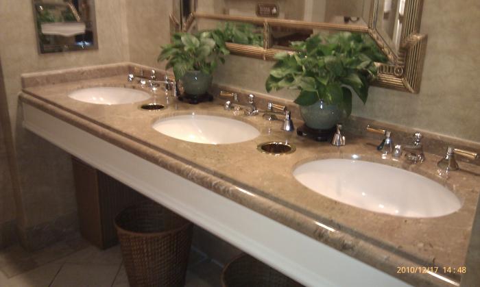 大理石洗手檯面