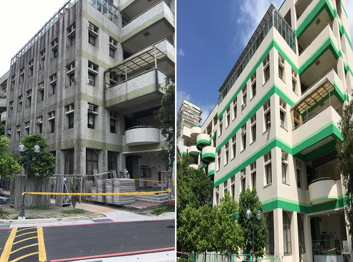 外牆整修-竹北高級中學