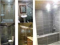 台北桃園衛浴翻新 乾濕分離 淋浴拉門安裝 板岩浴缸(版岩)