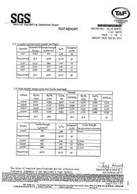 SGS實驗測驗報告/SGS Test Report
