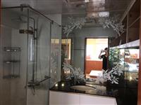宇進玻璃工程行 - 廁所明鏡砂圖處理
