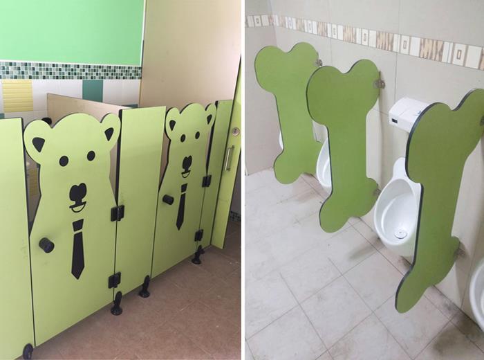 狗狗隔間廁所 / 狗骨頭造型尿斗隔間