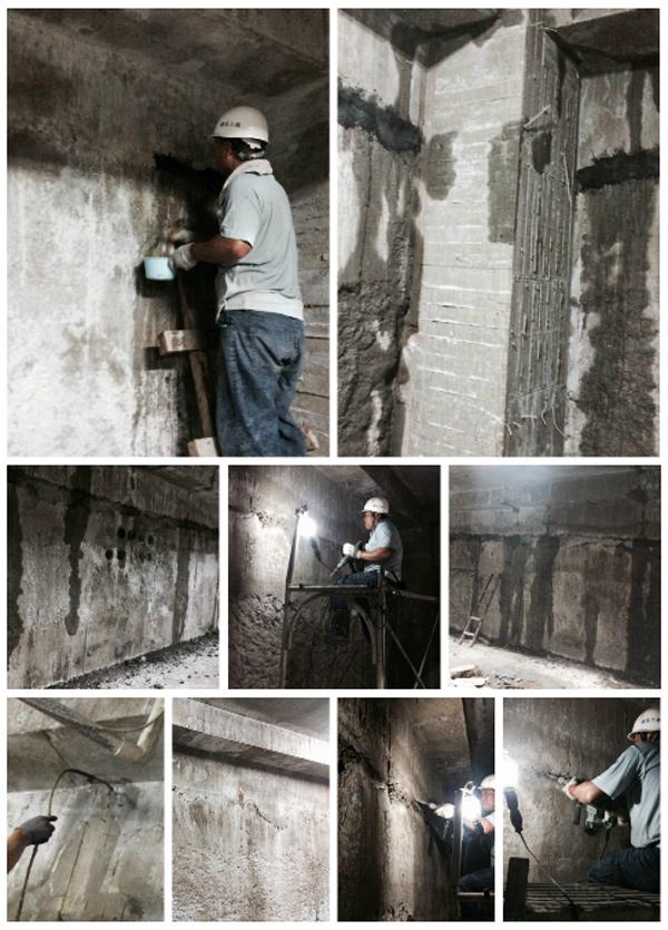 連續壁壓樑包砂漏水處理