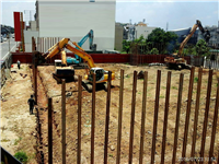 H型鋼安全支撐工程、連續壁施工、基礎排樁
