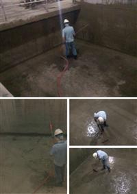 機械停車機坑-地板滲透結晶刷漿