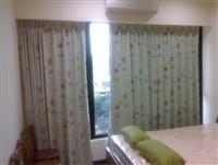 主臥鄉村風窗簾
