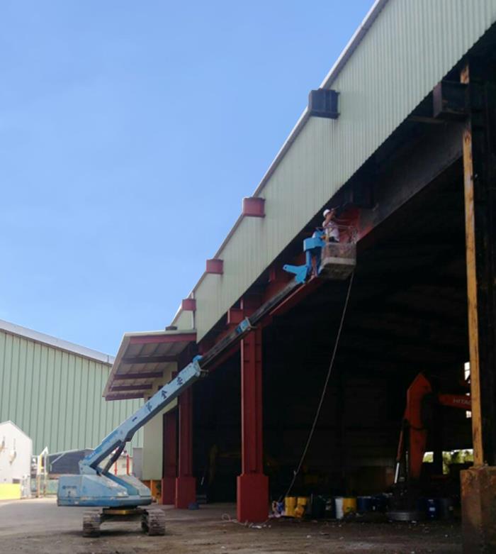 廠房鋼構噴塗-高空作業