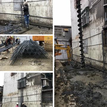 預壘樁鑽掘施工、預壘樁鋼筋籠綁紮、預壘樁灌漿作業、預壘樁壓樑施工