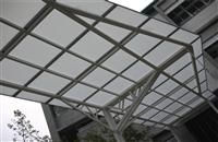 超強鋼構PC採光板風雨走廊