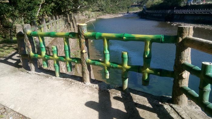 步道仿竹欄杆