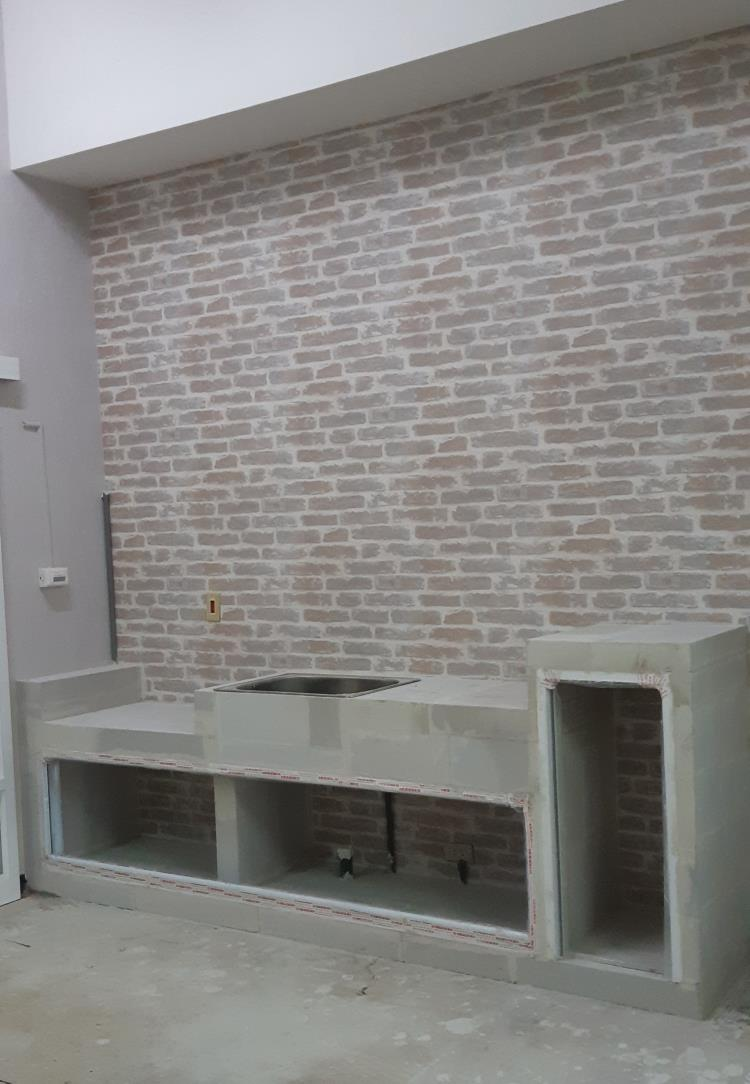 ALC輕質磚客製化廚房流理台