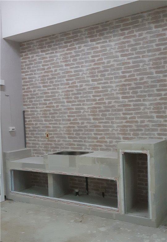 ALC輕質白磚客製化廚房流理台