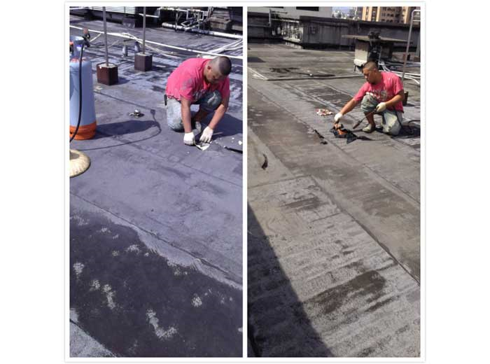 屋頂熱融毯防水1