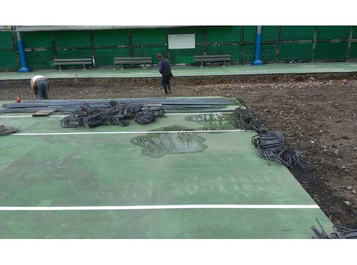 台北科技大學壓克力網球場施工1