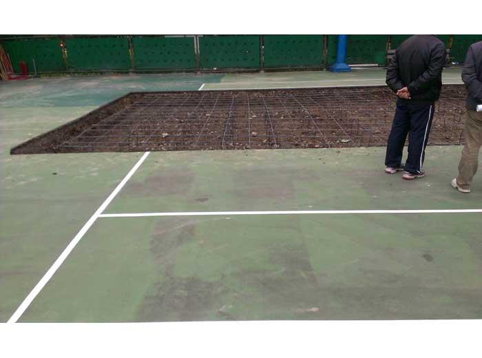台北科技大學壓克力網球場施工3