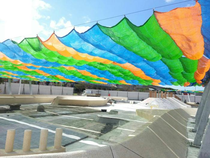 兒童沙坑彩色遮陽網