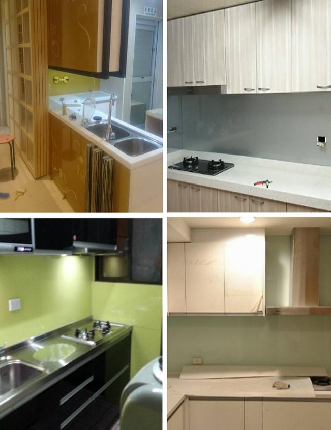 廚房玻璃、廚房檯面玻璃、廚房玻璃烤漆