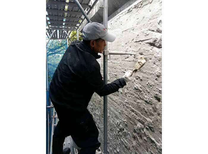 佛光山北海道場外牆防水工程1