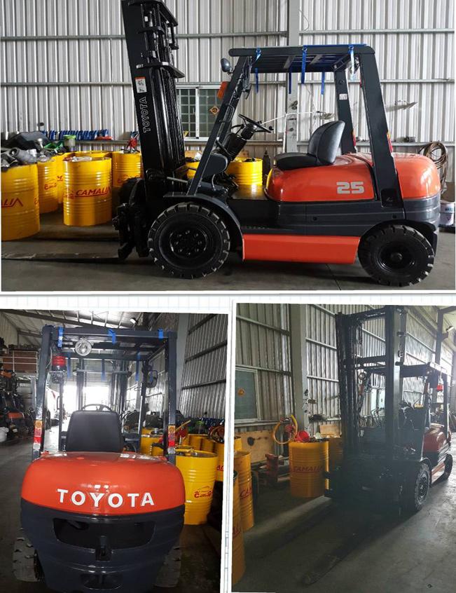 日本外匯TOYOTA 6型2.5噸二節4米載轉盤