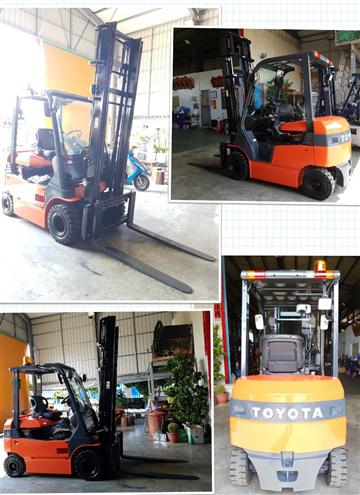 日本外匯電動坐式TOYOTA 7型2.5噸二節4米+側移堆高