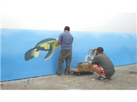 歐風專業廣告招牌製造廠 - 現場油漆彩繪-3