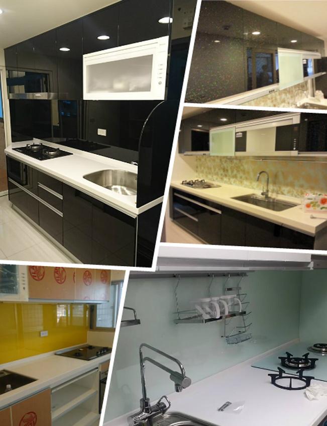 廚房玻璃烤漆、廚房強化玻璃