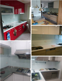 廚房玻璃烤漆、廚房牆面玻璃